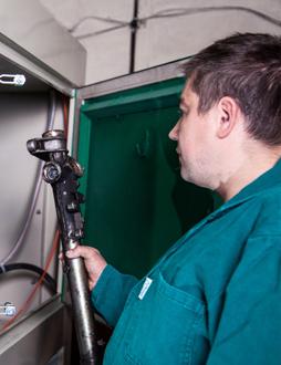 Proces naprawy maglownicy w firmie Avanti w Lublinie